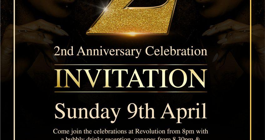 2nd anniversary invite